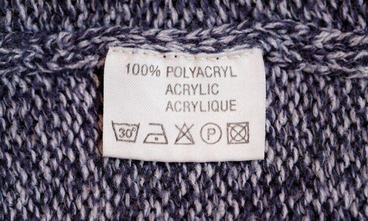 Acrylic clothing