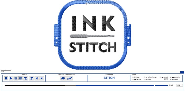 Digitizing embroidery software