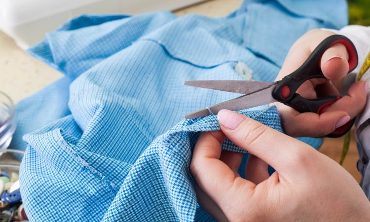 How to cut shirt to make it bigger
