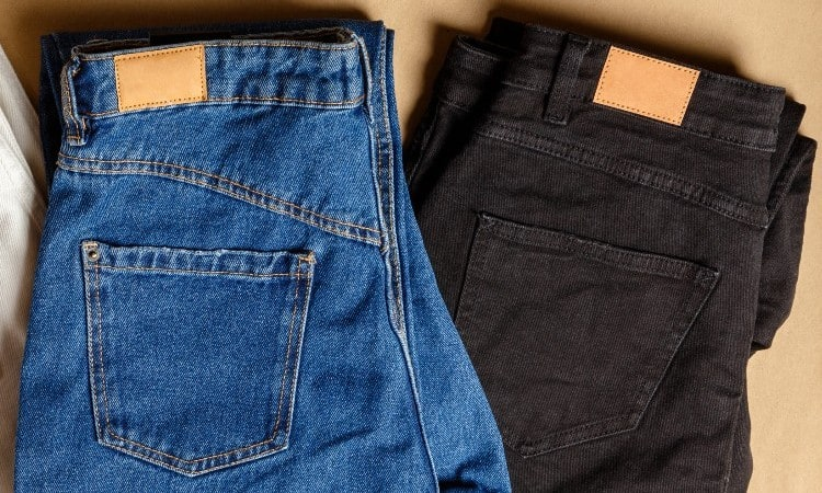 How to dye blue jeans black 2