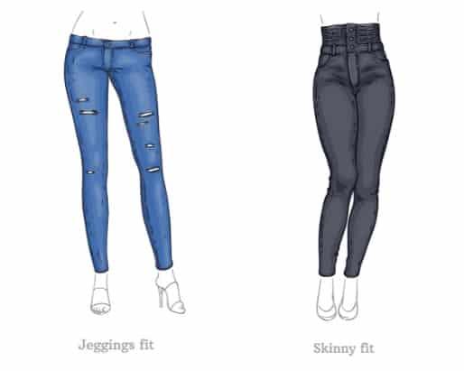 Jeggings vs Skinny Jeans