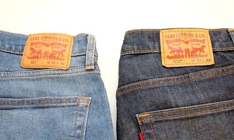 Levis 511 vs 512 Jeans