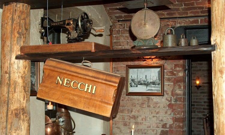 Necchi vintage sewing machine