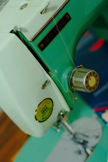 New home treadle sewing machine