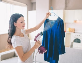 Remove wrinkles from polyester