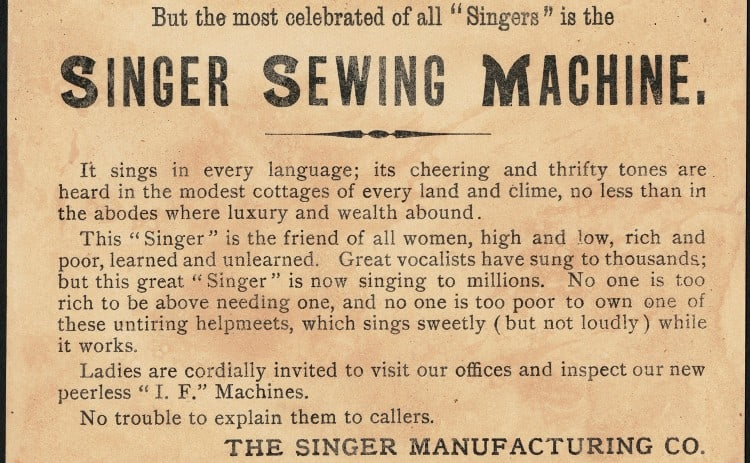 Singer machine models history